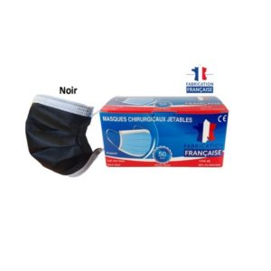 Masques Chirurgicaux NOIR Type 2R Taille Adulte